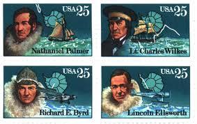 Arctic explorer stamps