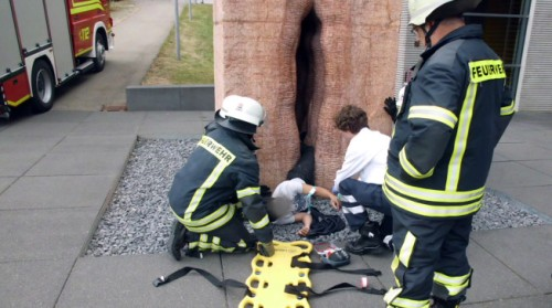 A Giant Vagina Attempted to Swallow An American Tourist (Photo AP Photo / Feuerwehr Tübingen via TalkingPointsMemo)