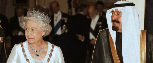 Queen Elizabeth and King Abdullah.  Photo Credit, Associated Press (but I got it from the Huff Post)
