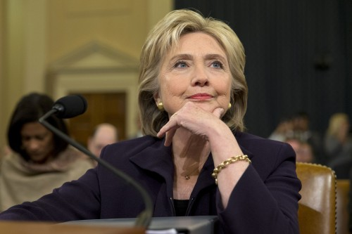 Hillary Clinton at Bengazi hearings -- LA Times Photo