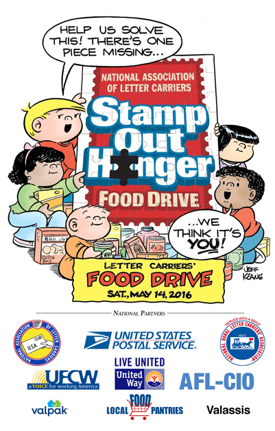 Leave canned or boxed food in your mailbox, Saturday, May 14th.