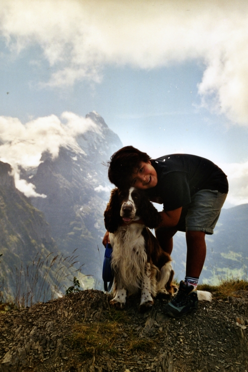Jacob & Cooper in Alps ~2000