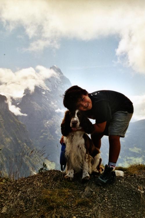 Jacob & Cooper in Alps ~2000