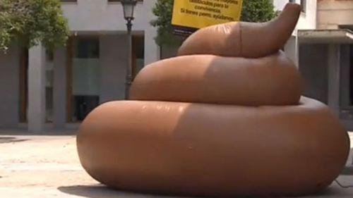 Spanish Dog poop sculpture
